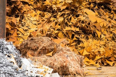 A pile of scrap metal