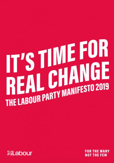 A screenshot of Labour's 2019 manifesto