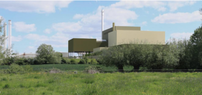 An artists' impression of the proposed NREL facility in Westbury, Wiltshire.