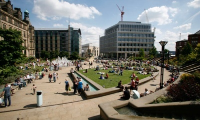 An image of Sheffield City Centre