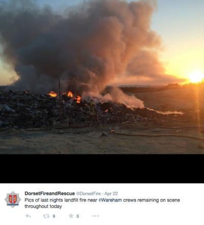 Viridor Trigon landfill fire