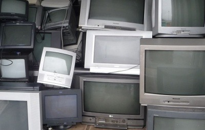 An image of waste televisions