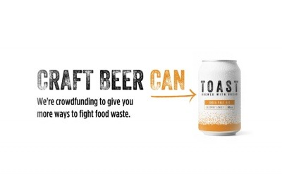 A campaign image of Toast Ale in its new can