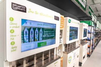 Unilever's refill machines in Asda's Middleton store