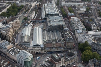 Aerial view of Victoria Station