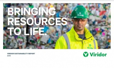 A screenshot from Viridor's 2019 Sustainability Report
