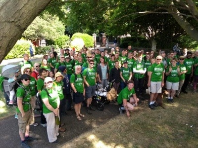 Participants of the 2018 Walk for WasteAid
