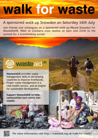Walk for Waste raising funds for developing countries