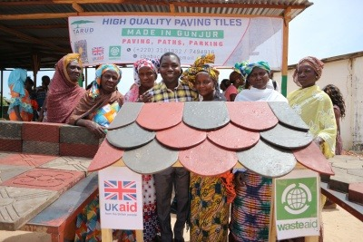 Waste Aid's roof tiling project in The Gambia