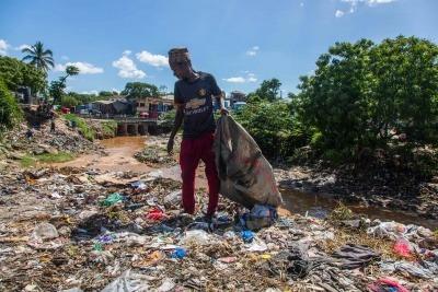 A waste picker in Tanzania.