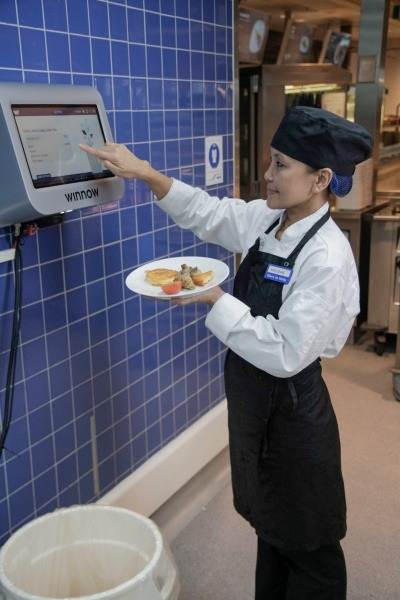 Winnow Vision in use in a restaurant
