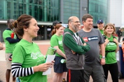 An image of last year's WasteAid walkers in Manchester