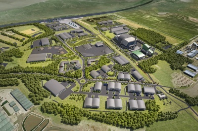 An artist's impression of the planned Protos Energy Park in Ellesmere Port, Cheshire