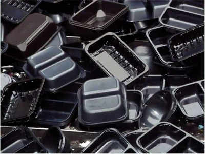 An image of black plastic meal trays