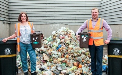 Bristol Waste Company Development and Sustainability Manager Gwen Frost and Bristol City Councillor Kye Dudd.