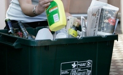 An image of a kerbside recycling box