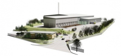 An artist's impression of the Sinfin incinerator