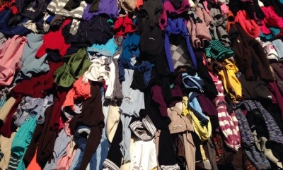 Piles of colourful clothing