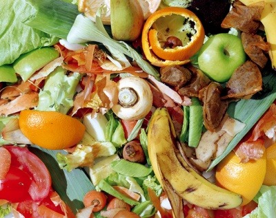 A pile of food waste