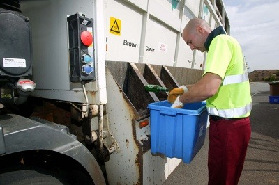 Image of a kerbside recycling collection, which some fear will be negatively affected by a DRS in Scotland