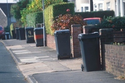 Bins on the street.