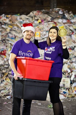 Bryson urges householders to recycle to support charity