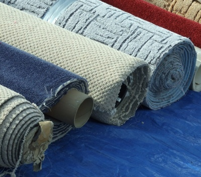 An image of rolls of carpet