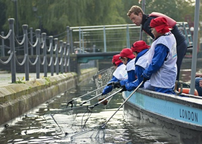 Recycled plastic boat to take school children on free waste fishing trips