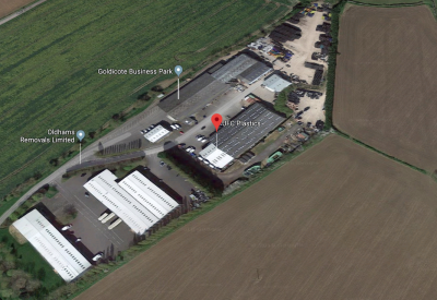 Google maps aerial image of Goldicote Business Park