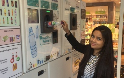 Image of a reverse vending machine that could be used in the Scottish DRS