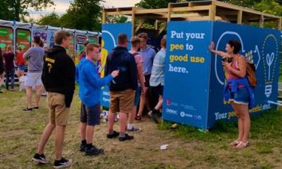 Glastonbury Festival harnesses the power of pee