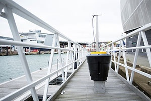Innovative SeaBin that collects waste in harbours is first of its kind in the UK