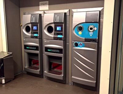 Reverse vending machines for a DRS