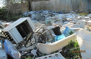 Hampshire waste boss jailed for repeat fly-tipping offences