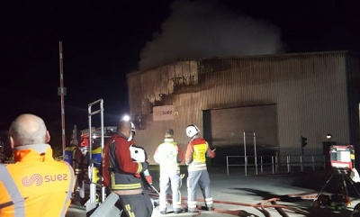 100 firefighters tackle blaze at SUEZ waste transfer station in Cornwall