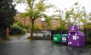 Recycling bins in Kelvinside, north Glasgow