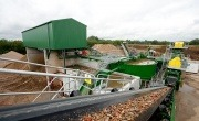 View from the conveyor belt at Sheehan C&D waste recycling plant