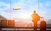 Birmingham Airport passenger and plane