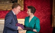 Princess Anne presents Veolia with Princess Royal Training Award