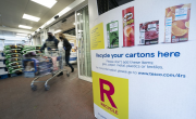 In store carton recycling point at Tesco