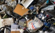 Pile of waste electrical and electronic items