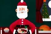 Alupro Santa eating dinner