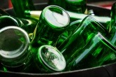 An image of glass bottles