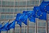 EU flags in Brussels