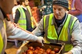 Volunteer helping at Fareshare.