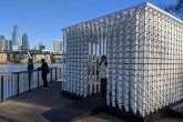 Hubbub's paper cup art installation on London's Southbank