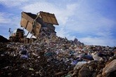 An image of a landfill site