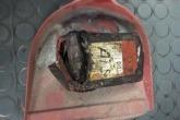 Li battery in waste fire