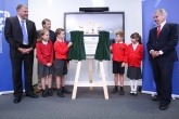 Children from St Andrews C of E Primary School unveiling a plague for the Lincolnshire EfW site