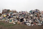 The illegal waste site